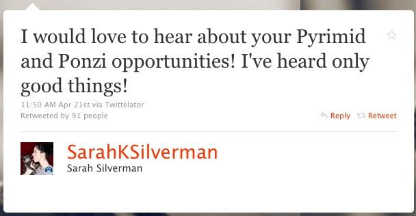 Sarah Silverman 1 Twitter Web Copywriter Blog Article