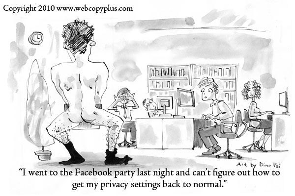 Webcopyplus cartoon - Facebook privacy settings