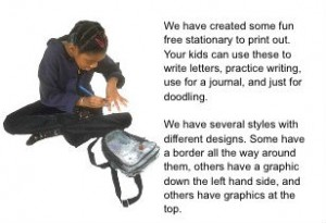 Web copywriting example - stationery