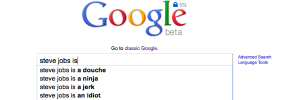 Steve Jobs Google Search with Autocomplete