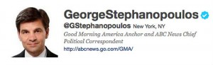 George Stephanopoulos' Twitter Account