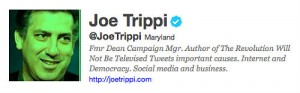 Joe Trippi's Twitter Account