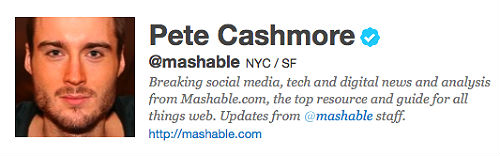 Mashable's Twitter Account