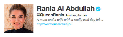Queen Rania's Twitter Account