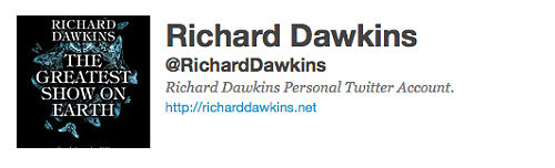 Richard Dawkins' Twitter Account
