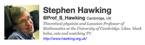 Stephen Hawking's Twitter Account