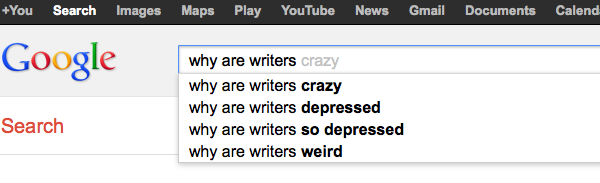 Why are writers crazy, depressed and weird?