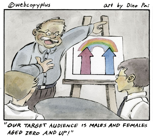 Target marketing cartoon - Webcopyplus