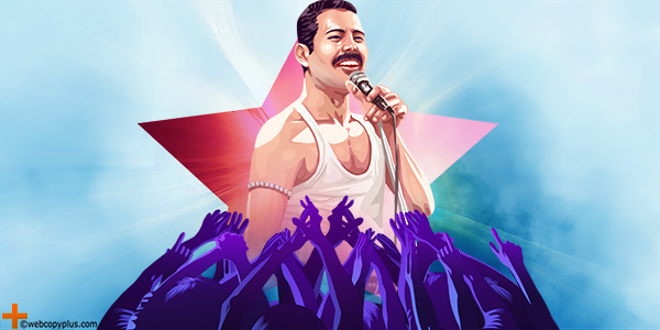 Freddie Mercury content strategy and creativity.