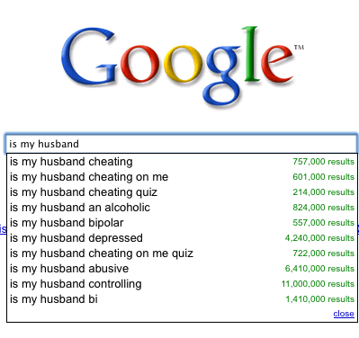 Webcopyplus web copywriter Google sample - Is my husband…