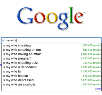 Webcopyplus web writer Google sample - Is my wife….
