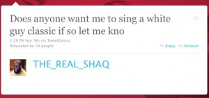Shaq Twitter Web Copywriter Blog Article