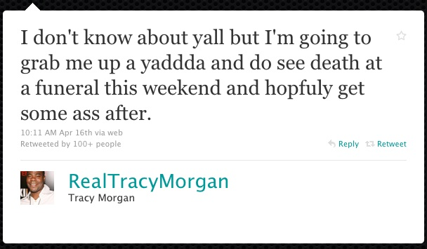 Tracy Morgan Twitter Web Copywriter Blog Article