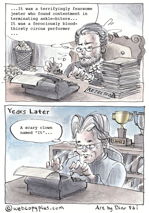 Stephen King Cartoon - Webcopyplus Web Copywriter Blog