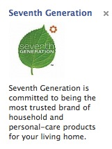 Seventh Generation PPC Ad
