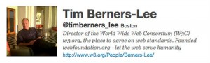 Tim Berners-Lee's Twitter Account